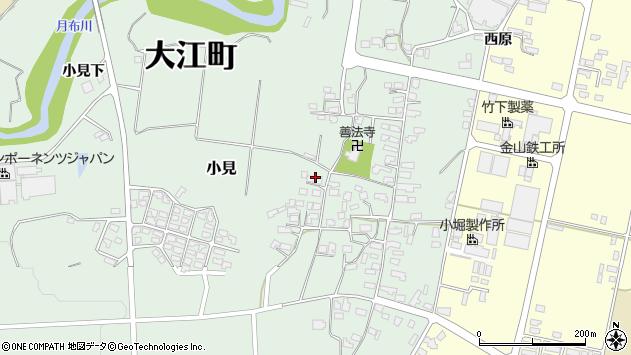 山形県西村山郡大江町小見282周辺の地図