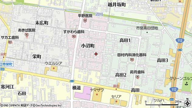山形県寒河江市小沼町22周辺の地図