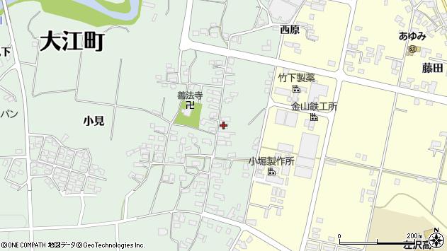 山形県西村山郡大江町小見219周辺の地図