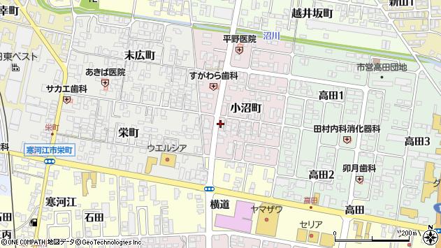 山形県寒河江市小沼町15周辺の地図