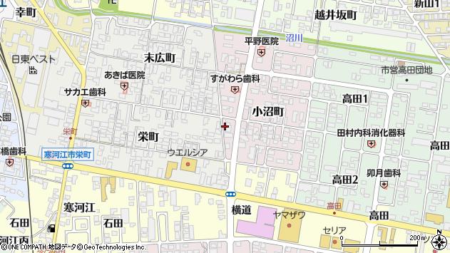 山形県寒河江市小沼町12周辺の地図