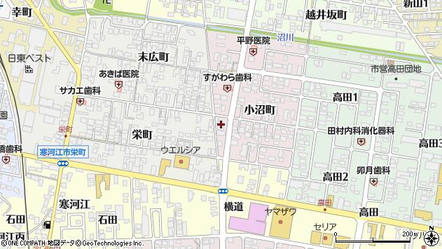 山形県寒河江市小沼町13周辺の地図