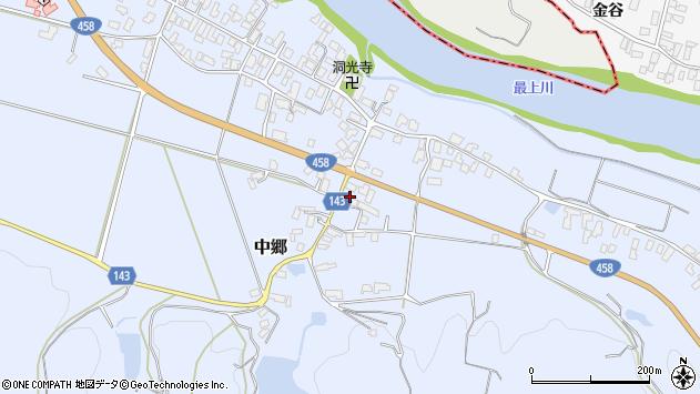 山形県寒河江市中郷675周辺の地図