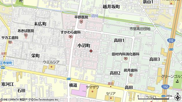 山形県寒河江市小沼町34周辺の地図
