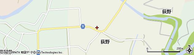 山形県西村山郡大江町荻野221周辺の地図