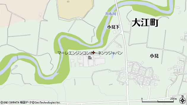 山形県西村山郡大江町小見443周辺の地図