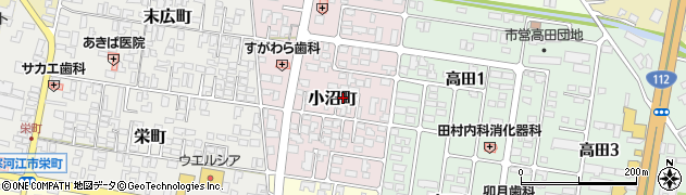 山形県寒河江市小沼町32周辺の地図