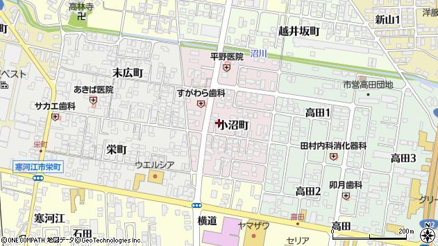 山形県寒河江市小沼町29周辺の地図