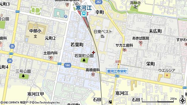 山形県寒河江市若葉町5周辺の地図