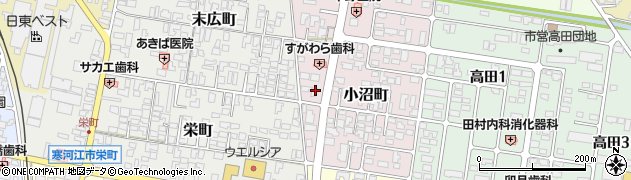 山形県寒河江市小沼町26周辺の地図