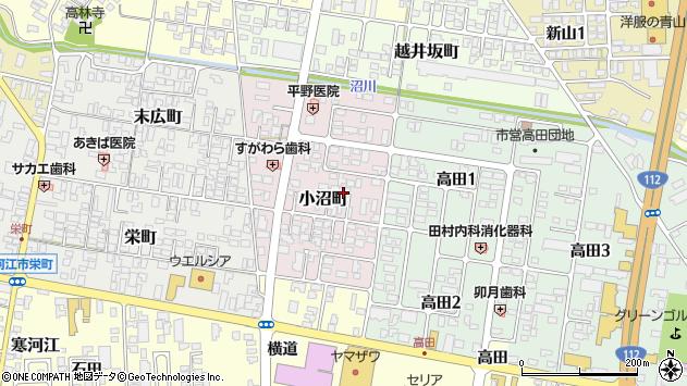 山形県寒河江市小沼町33周辺の地図