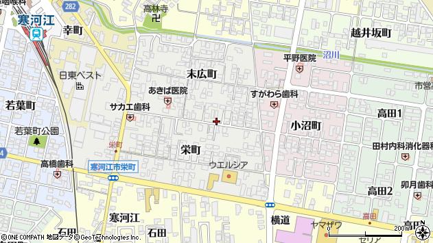 山形県寒河江市末広町3周辺の地図