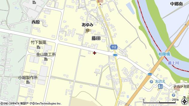 山形県西村山郡大江町藤田510周辺の地図
