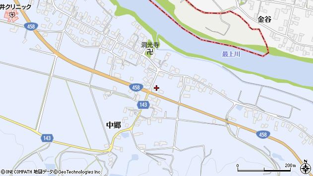 山形県寒河江市中郷682周辺の地図