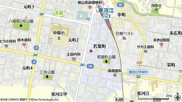 山形県寒河江市若葉町8周辺の地図