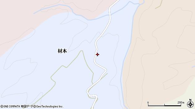 山形県西村山郡大江町材木112周辺の地図