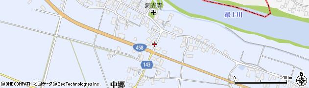 山形県寒河江市中郷966周辺の地図