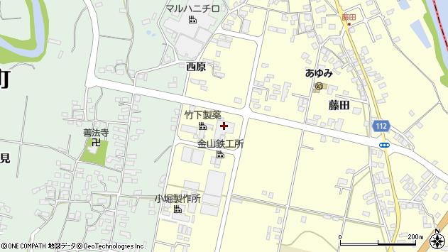 山形県西村山郡大江町藤田503周辺の地図