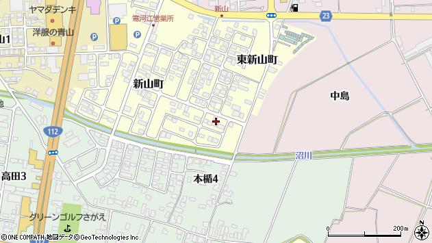 山形県寒河江市新山町65周辺の地図