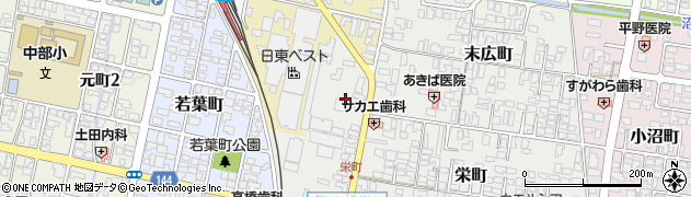 山形県寒河江市栄町1周辺の地図