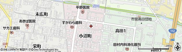 山形県寒河江市小沼町148周辺の地図