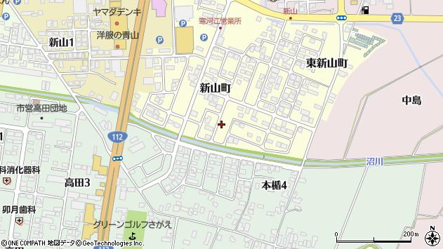 山形県寒河江市新山町9周辺の地図