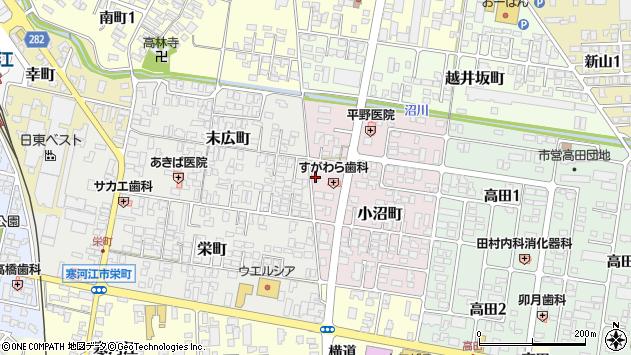 山形県寒河江市小沼町37周辺の地図