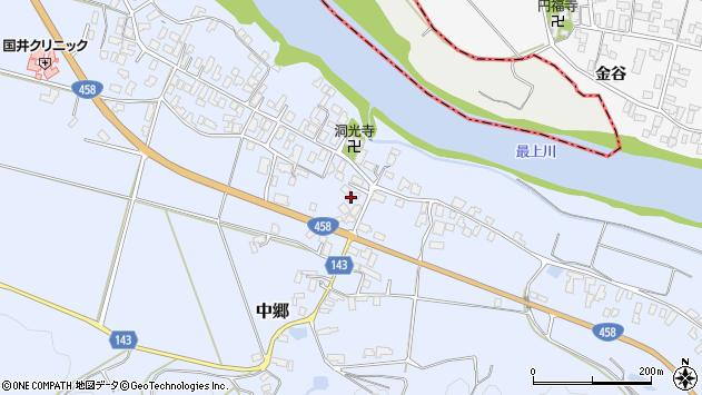 山形県寒河江市中郷963周辺の地図