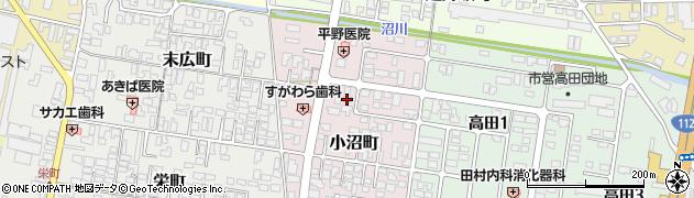 山形県寒河江市小沼町154周辺の地図