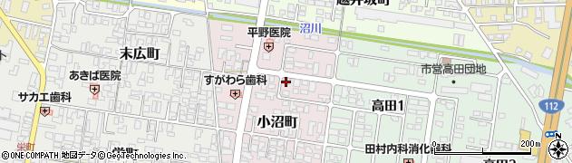 山形県寒河江市小沼町140周辺の地図