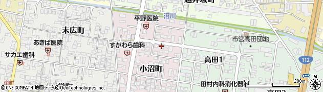 山形県寒河江市小沼町141周辺の地図