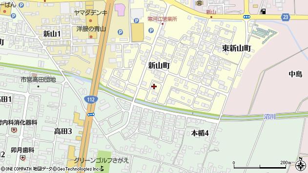 山形県寒河江市新山町8周辺の地図