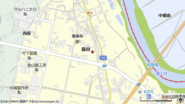 山形県西村山郡大江町藤田382周辺の地図