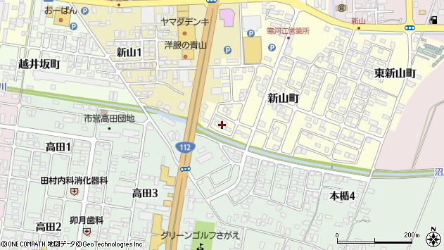 山形県寒河江市新山町14周辺の地図