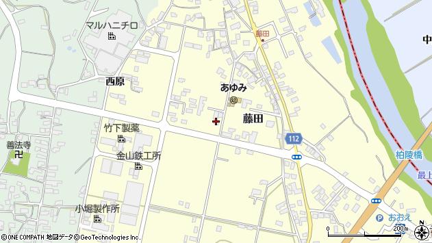 山形県西村山郡大江町藤田408周辺の地図