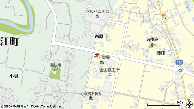 山形県西村山郡大江町藤田528周辺の地図