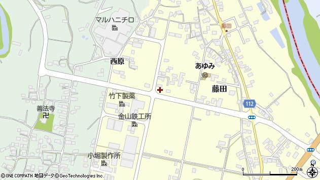 山形県西村山郡大江町藤田448周辺の地図