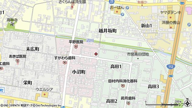 山形県寒河江市小沼町133周辺の地図