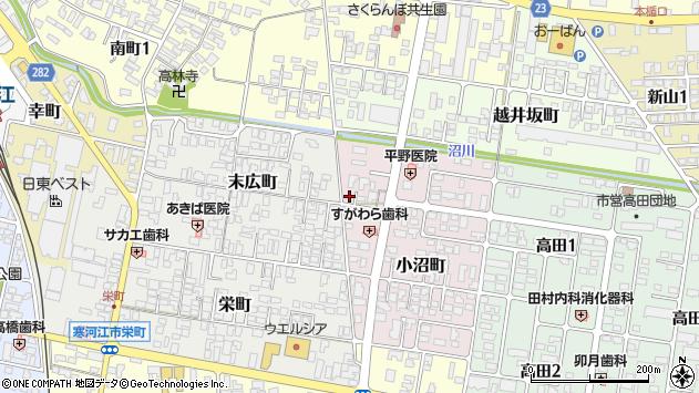 山形県寒河江市小沼町51周辺の地図
