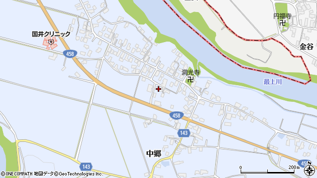 山形県寒河江市中郷1057周辺の地図