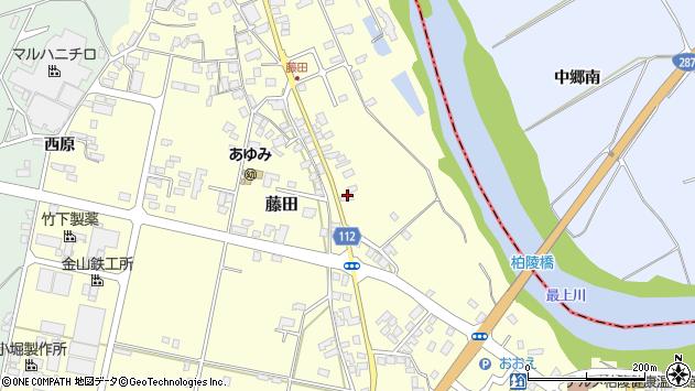山形県西村山郡大江町藤田125周辺の地図