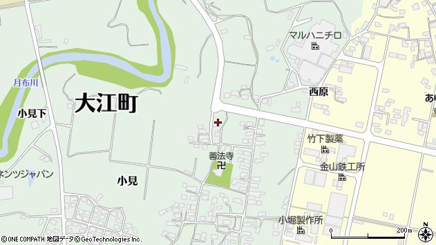 山形県西村山郡大江町小見624周辺の地図