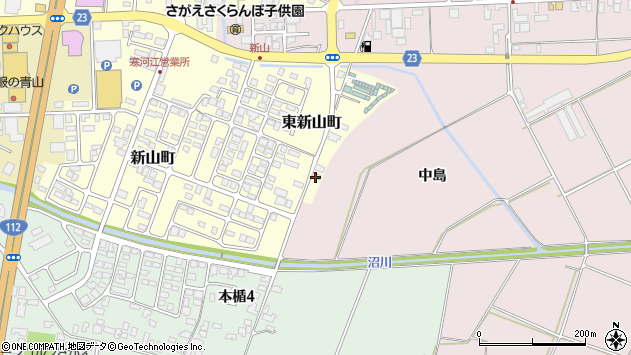 山形県寒河江市東新山町257周辺の地図