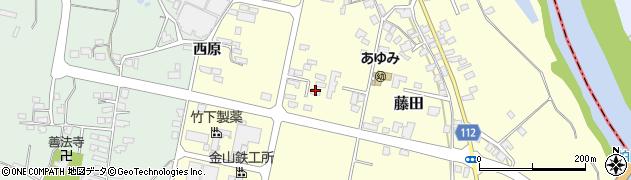 山形県西村山郡大江町藤田447周辺の地図
