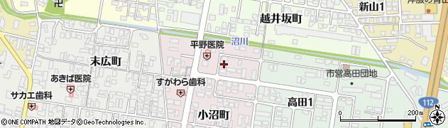 山形県寒河江市小沼町139周辺の地図