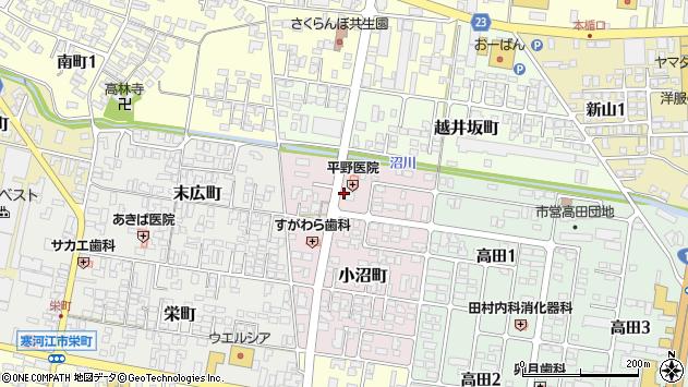 山形県寒河江市小沼町113周辺の地図
