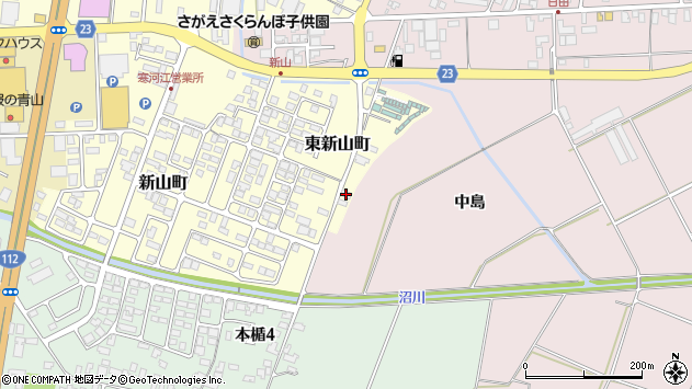 山形県寒河江市東新山町258周辺の地図