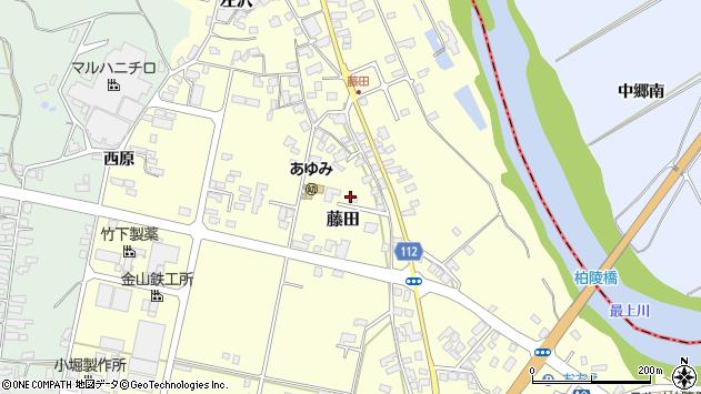 山形県西村山郡大江町藤田387周辺の地図