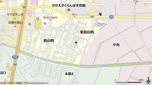 山形県寒河江市東新山町222周辺の地図
