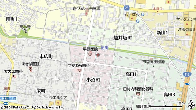 山形県寒河江市小沼町126周辺の地図